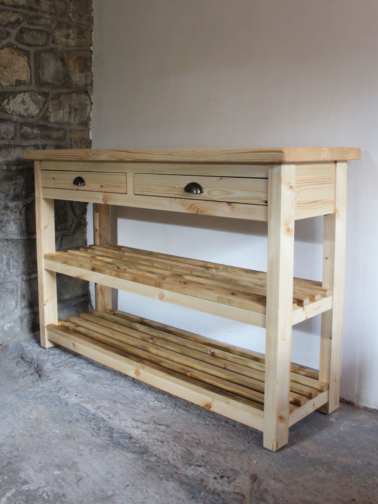 Abergavenny Butchers Block Kitchen Island - Powell & Powell Furniture