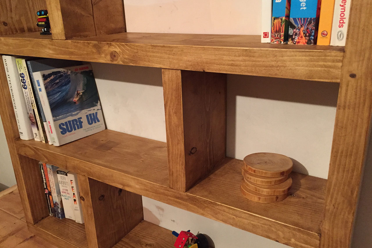 Piece of the Week: Rustic Asymmetric Bookcase