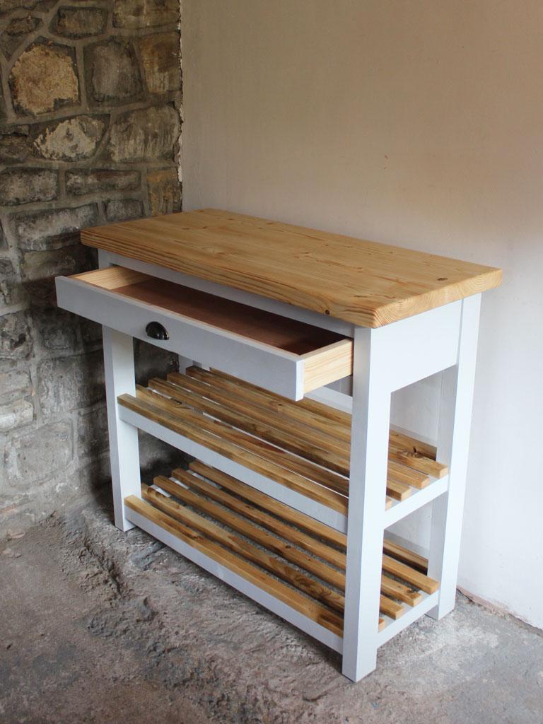 Kitchen Island Butchers Block Uk : Brecon Butchers Block Kitchen Island - Powell & Powell Furniture