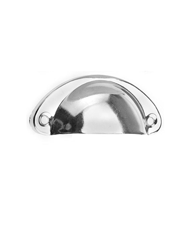 Half Moon Shell Pull Drawer Handle Chrome