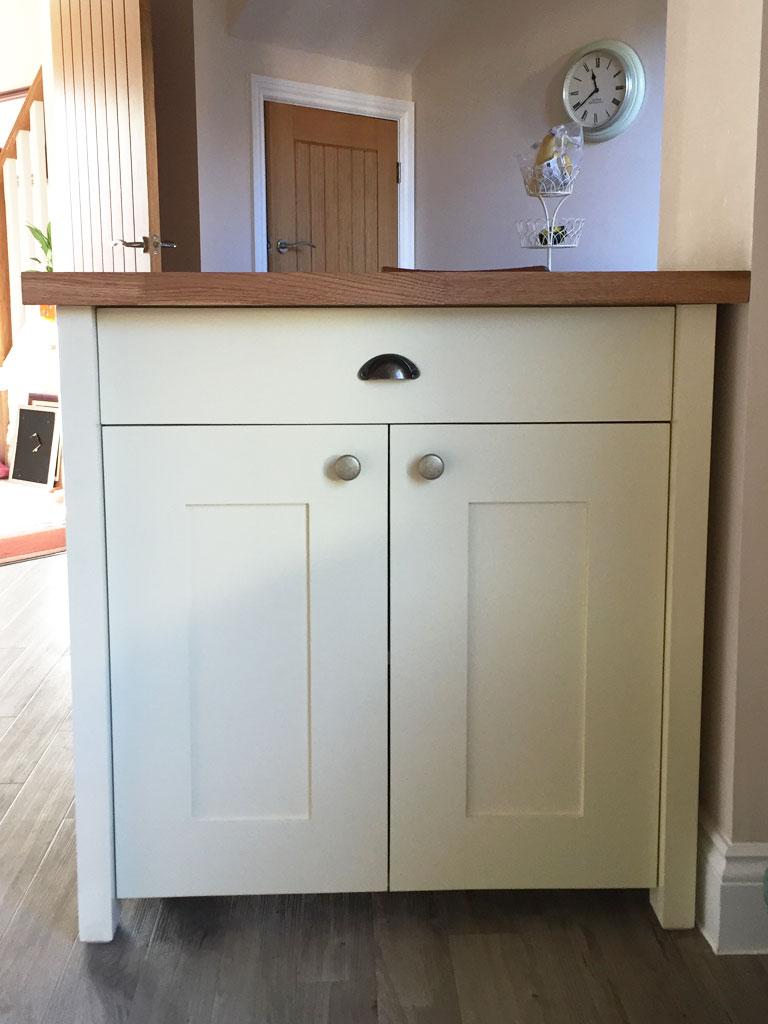 Usk Butchers Block Kitchen Island - Bespoke Furniture Maker Abergavenny