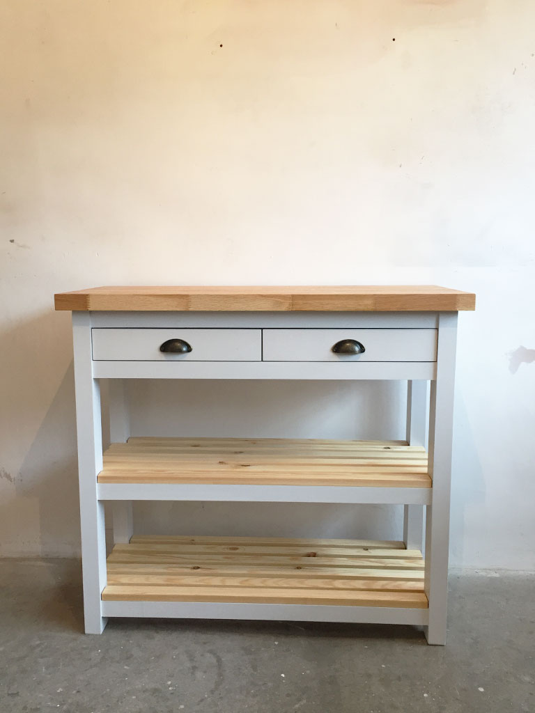 Abergavenny Butchers Block Kitchen Island - Bespoke Furniture Makers Abergavenny