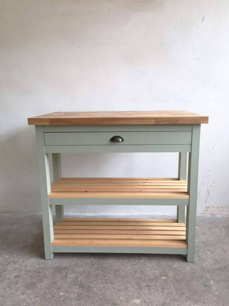 Monmouth Butchers Block Kitchen Island Breakfast Bar Oak Top - Bespoke Furniture Makers Abergavenny