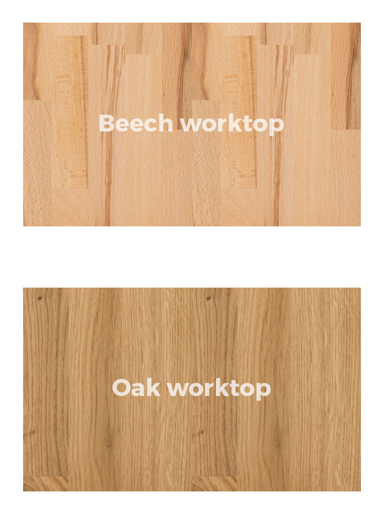 Beech or Oak worktop