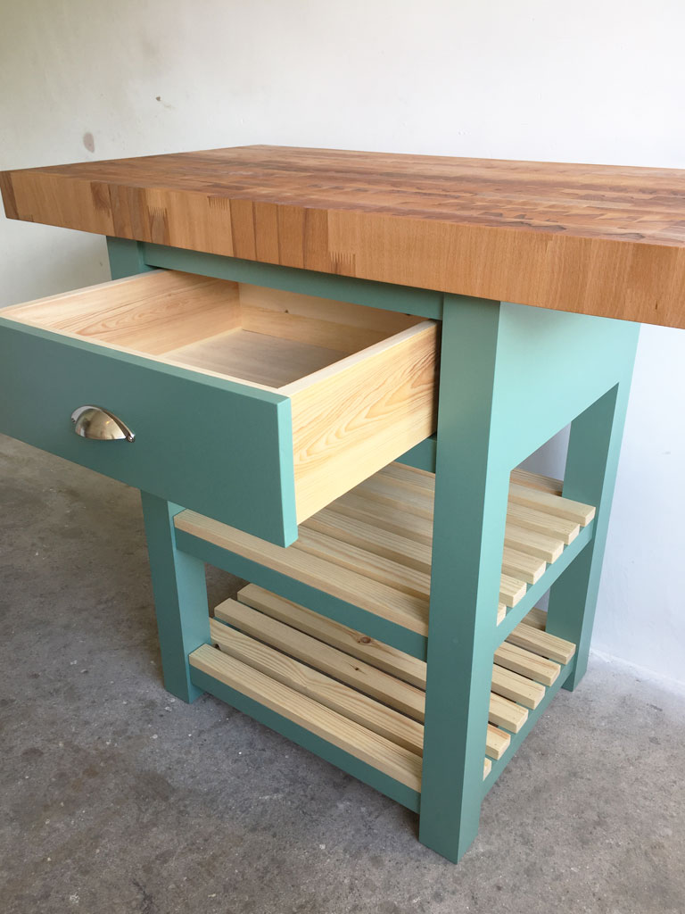 Black Mountain End Grain Butchers Block Kitchen Island Breakfast Bar - Bespoke Furniture Maker ...